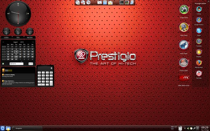 Prestigio Suite on Kubuntu screenshot