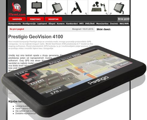 review of GPS navigator Prestigio GeoVision 4100